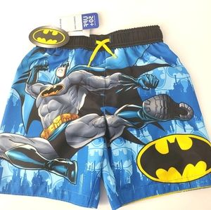 NWT Batman Blue & Black Swim Trunks, 4T